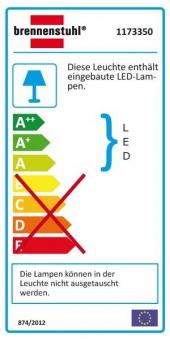 Brennenstuhl LED-Leuchte L2705 PIR mit Bewegungsmelder IP44 / 17 Watt Bild 2