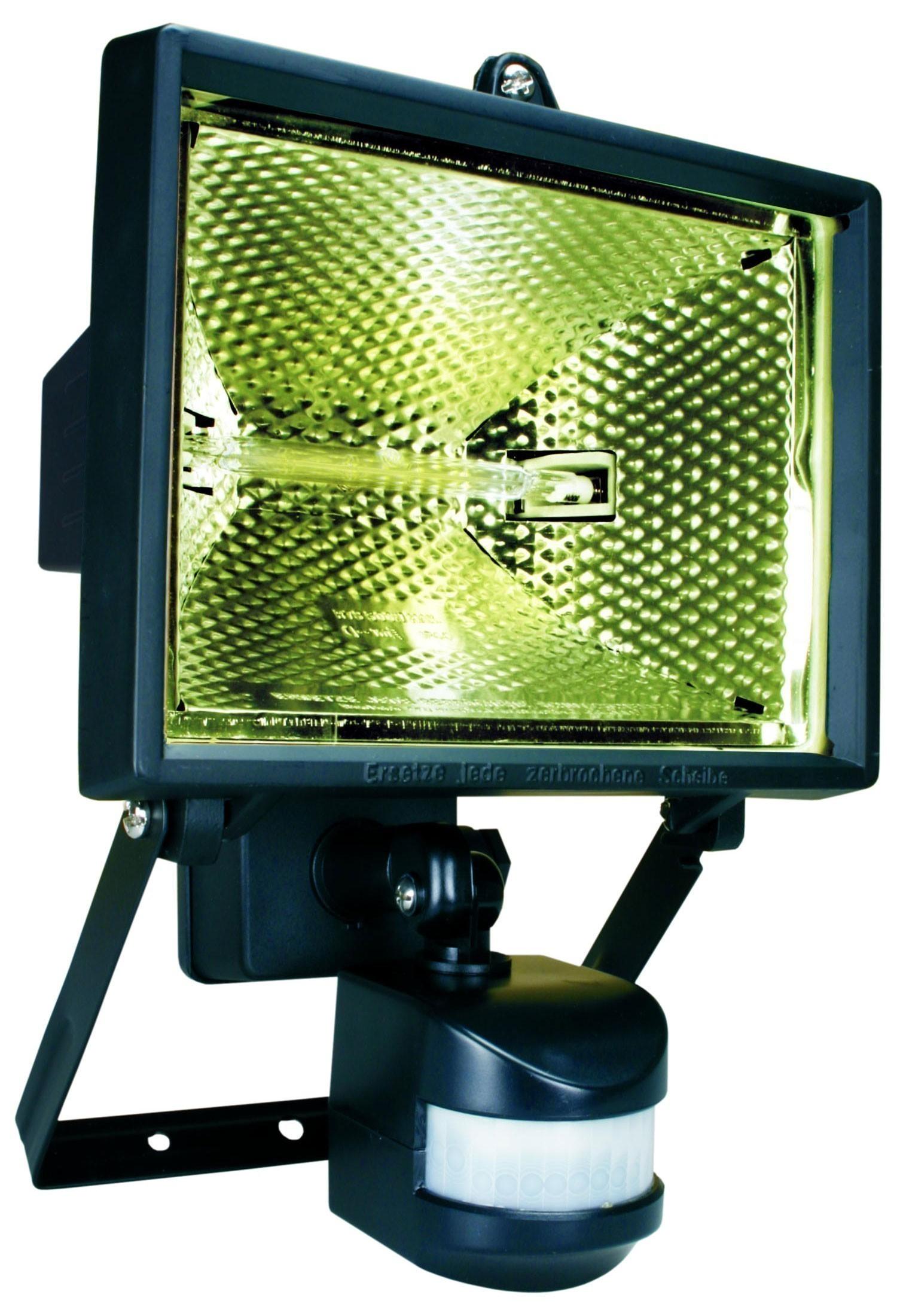 Halogenstrahler mit Bewegungsmelder IP44 Smartwares schwarz 400 Watt Bild 1