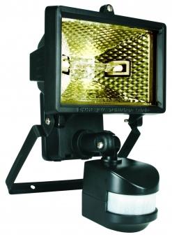 Halogenstrahler mit Bewegungsmelder Smartwares IP 44 schwarz 120 Watt Bild 1