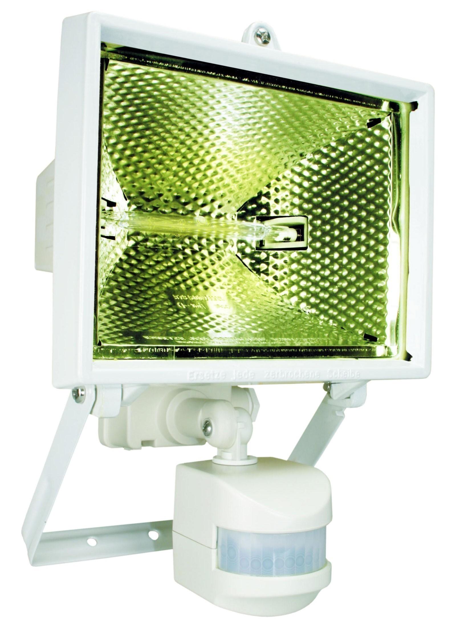 Halogenstrahler mit Bewegungsmelder Smartwares IP44 weiß 400 Watt Bild 1