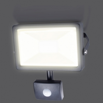 LED-Strahler / Baustrahler Smartwares Bewegungsmelder 20 Watt schwarz Bild 2