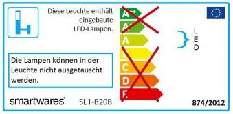 LED-Strahler / Baustrahler Smartwares Bewegungsmelder 20 Watt schwarz Bild 3