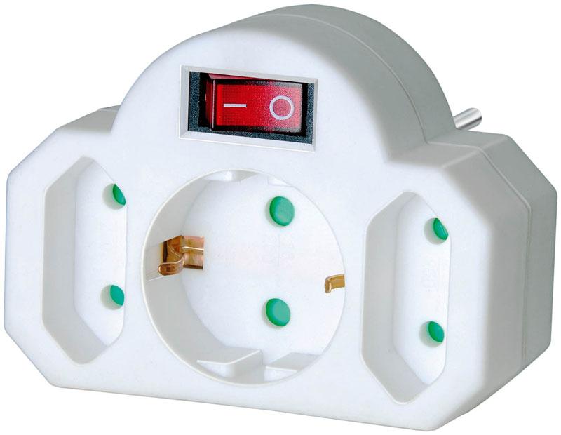 Brennenstuhl Adapterstecker Euro 2 mit Schalter Bild 1