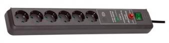 Brennenstuhl Secure-Tec Steckdosenleiste 3m 6fach anthrazit Überspann. Bild 1