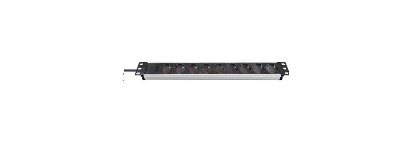 Brennenstuhl Steckdosenleiste Alu-Line 9-fach Schalter Alu/schwarz Bild 1