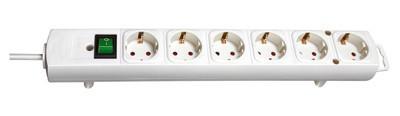Brennenstuhl Steckdosenleiste Comfort-Line 2m 6-fach mit Schalter weiß Bild 1