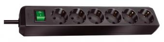 Brennenstuhl Steckdosenleiste Eco-Line 1,5m 6-fach Schalter schwarz Bild 1