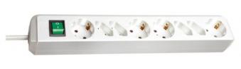 Brennenstuhl Steckdosenleiste Eco-Line 1,5m 8-fach Schalter weiß Bild 1
