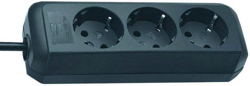 Brennenstuhl Steckdosenleiste Eco-Line 3-fach schwarz Bild 1