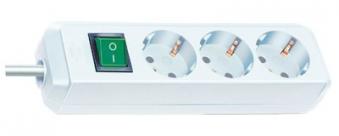 Brennenstuhl Steckdosenleiste Eco-Line 3m 3-fach Schalter Kabel weiß Bild 1