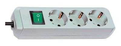 Brennenstuhl Steckdosenleiste Eco-Line 5m 3-fach Schalter weiß Bild 1