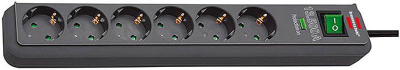Brennenstuhl Steckdosenleiste Eco-Line 6-fach Schalter anthrazit Bild 1