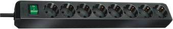 Brennenstuhl Steckdosenleiste Eco-Line 8-fach Schalter schwarz Bild 1