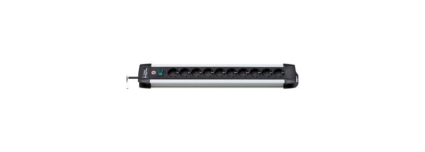 Brennenstuhl Steckdosenleiste Premium-Alu-Line 10-fach Schalter schw Bild 1