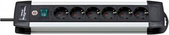 Brennenstuhl Steckdosenleiste Premium-Alu-Line 6-fach Schalter schw Bild 1