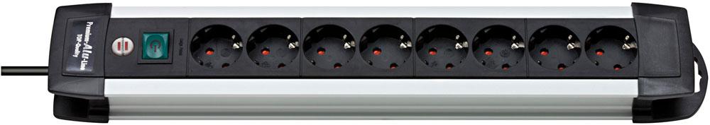 Brennenstuhl Steckdosenleiste Premium-Alu-Line 8-fach Schalter Bild 1