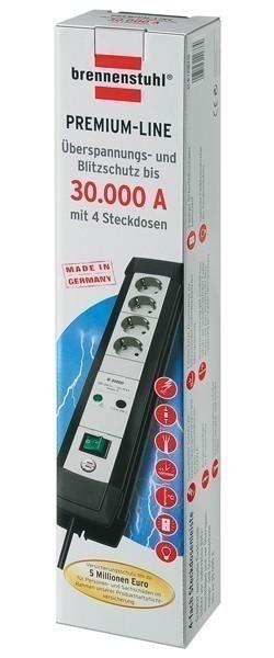 Brennenstuhl Steckdosenleiste Premium-Line Überspannung 1,8m 4-fach Bild 2