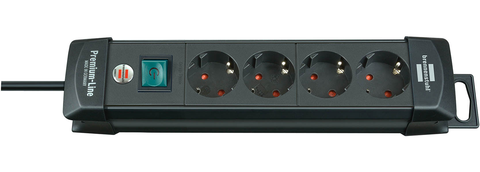 Brennenstuhl Steckdosenleiste Premium-Line 1,8m 4-fach schwarz Bild 1