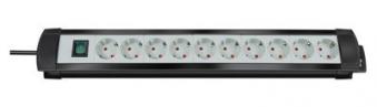 Brennenstuhl Steckdosenleiste Premium-Line 3m 10fach schwarz/grau Bild 1