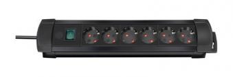 Brennenstuhl Steckdosenleiste Premium-Line 3m 6-fach schwarz Bild 1