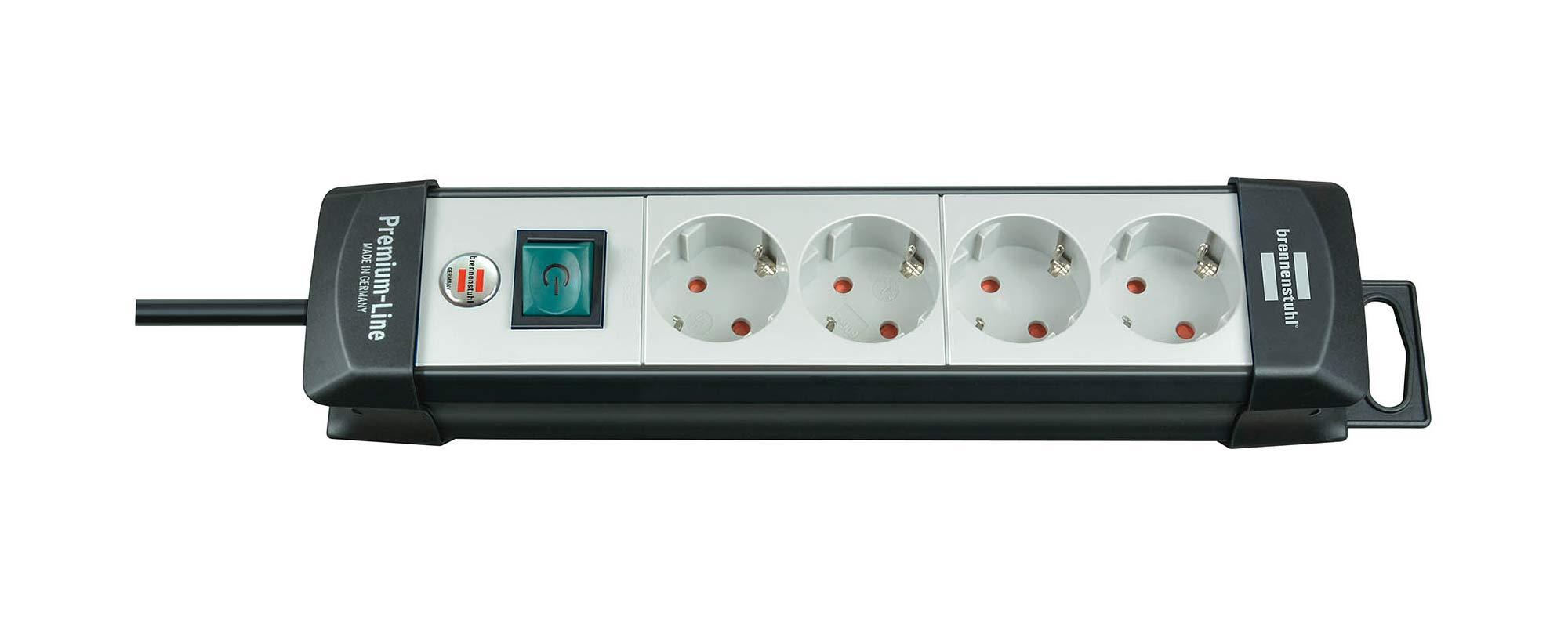 Brennenstuhl Steckdosenleiste Premium-Line 4-fach schwarz/grau 1,8m Bild 1