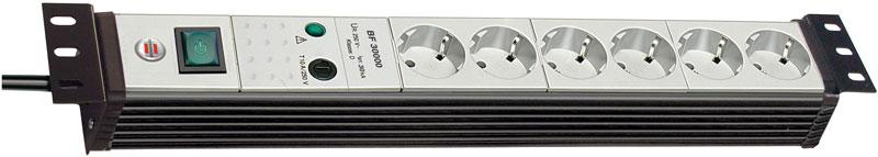 Brennenstuhl Steckdosenleiste Premium-Line 6-fach Schalter schw/grau Bild 1