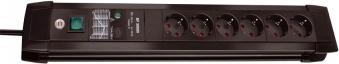 Brennenstuhl Steckdosenleiste Premium-Line 6-fach Schalter schwarz Bild 1