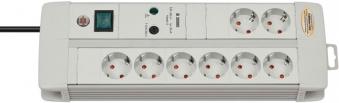 Brennenstuhl Steckdosenleiste Premium-Line 8-fach Schalter lichtgrau Bild 1