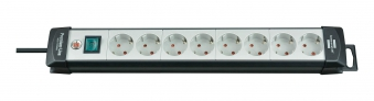 Brennenstuhl Steckdosenleiste Premium-Line 8-fach schwarz/grau 3m Bild 1