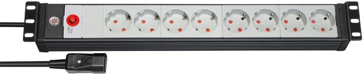 Brennenstuhl Steckdosenleiste Premium-Line 8-fach schwarz/grau Bild 1