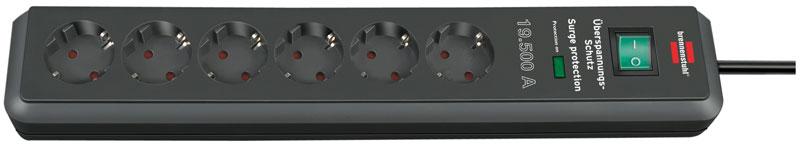 Brennenstuhl Steckdosenleiste Secure-Tec 6-fach Schalter anthrazit Bild 1