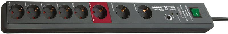 Brennenstuhl Steckdosenleiste Secure-Tec 8-fach Schalter anthrazit Bild 1