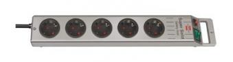 Brennenstuhl Steckdosenleiste Super-Solid Line 2,5m 5-fach silber Bild 1