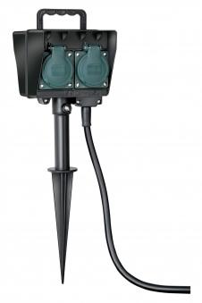 Brennenstuhl Stromverteiler Garten-Steckdose 4fach Erdspieß 1,4m außen Bild 1