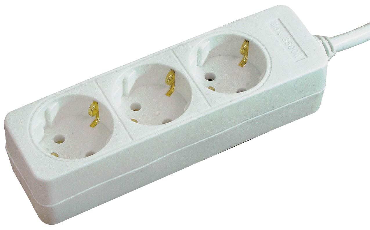 Brennenstuhl Tischsteckdose / Steckdosenleiste 3-fach weiß Bild 1