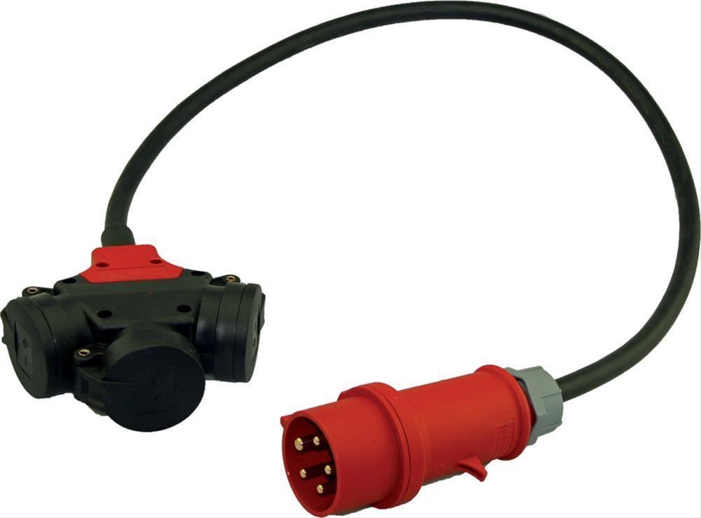 Dreifach-Verteiler IP44 1m H07RN-F5G2,5 CEE 16A Bild 1