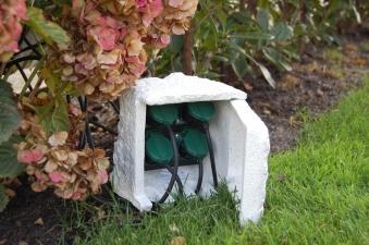 Garten-Steckdose Ubbink Stone Decor 4-fach Außensteckdose Bild 2