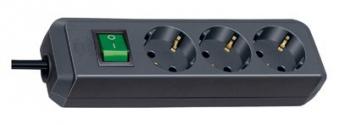 Steckdosenleiste Brennenstuhl Eco-Line 1,5m 3-fach Schalter schwarz Bild 1