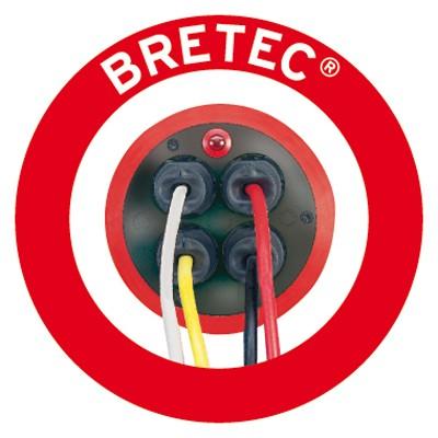 Brennenstuhl Garant Kabeltrommel Bretec 4-fach Kunststoff rot  50m Bild 2