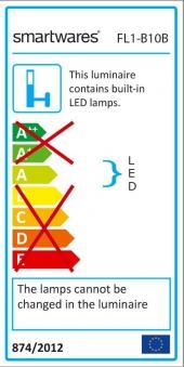 Baustrahler / LED Fluter Smartwares 10 W schwarz Bild 3