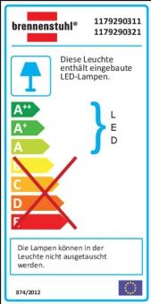 Brennenstuhl LED-Strahler Premium City IP 44 40 W mit Bewegungsm. anth Bild 2