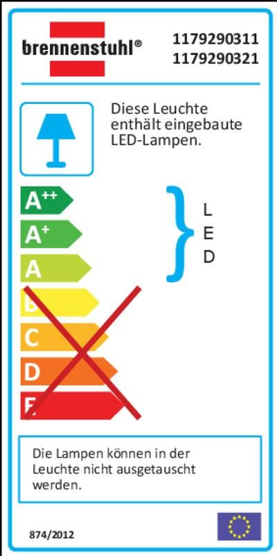 Brennenstuhl LED-Strahler Premium City IP 44 40 W mit Bewegungsm. weiß Bild 2