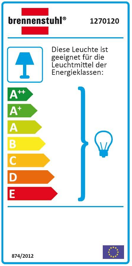 Brennenstuhl Leuchte / Ovalleuchte Color IP44 grau 60 Watt Bild 2