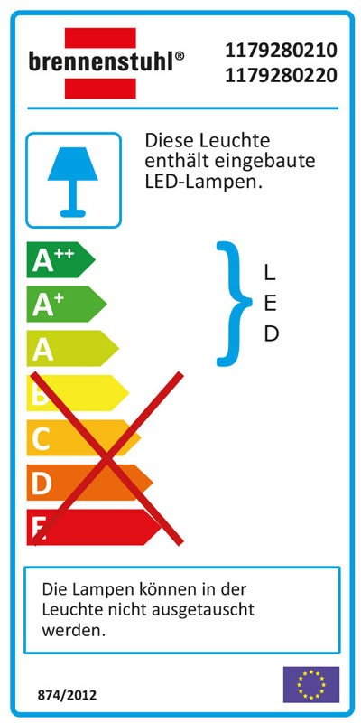 Brennenstuhl SMD-LED Leuchte L DN 2405 12 W mit Bewegungsmelder schw. Bild 2