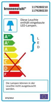 Brennenstuhl SMD-LED Leuchte L DN 2405 12 W schwarz Bild 2