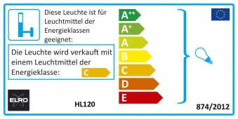 Halogenstrahler / Baustrahler Smartwares IP44 schwarz 120 Watt Bild 2