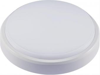 LED Armatur rund 10W 4000K IP54 weiß Bild 1