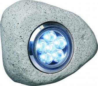 LED Steinleuchte 3er Set für außen inkl. 12V Trafo Bild 1