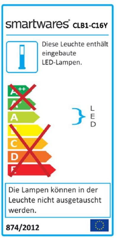 LED-Strahler / Baustrahler CLB1-C16Y Smartwares 16Watt schwarz/gelb Bild 3