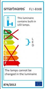 LED-Strahler / Baustrahler / Fluter FL1-B30B Smartwares 30Watt schwarz Bild 3